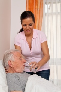 13599196 - a nurse in aged care for the elderly in nursing homes
