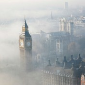 26955781 - palace of westminster in fog seen from london eye