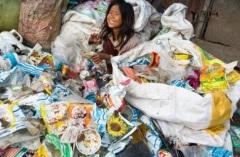 Girl in Garbage Dump