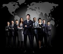 26209868 - full-length portrait of group of business people